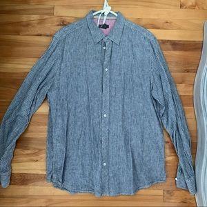 Men's linen/cotton button down shirt